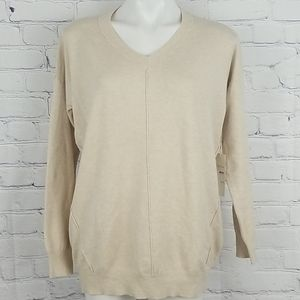 NWT Dreamers long sleeve exposed seams sweater